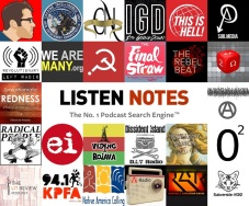 anarchist podcasts collage