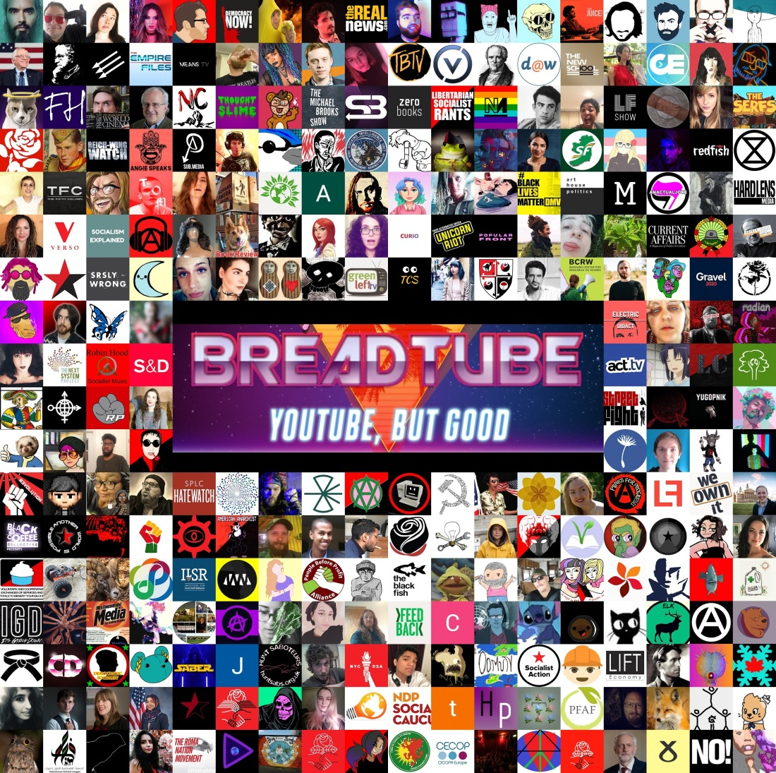 breadtube collage