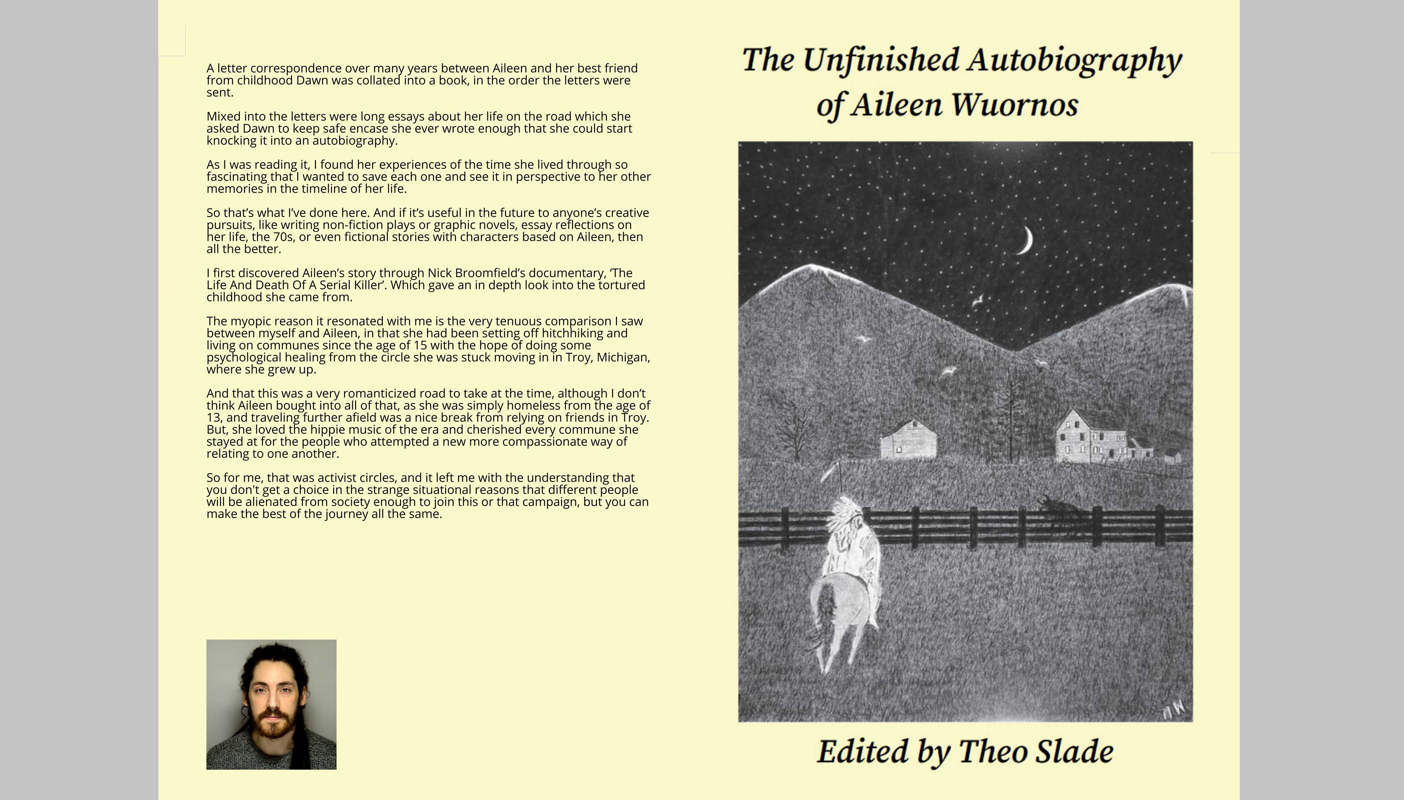 The Unfinished Autobiography of Aileen Wuornos